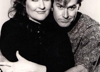 1990 - Met Philip Moolman vir 'Laurika op Nagskof' - Foto: Bob Martin