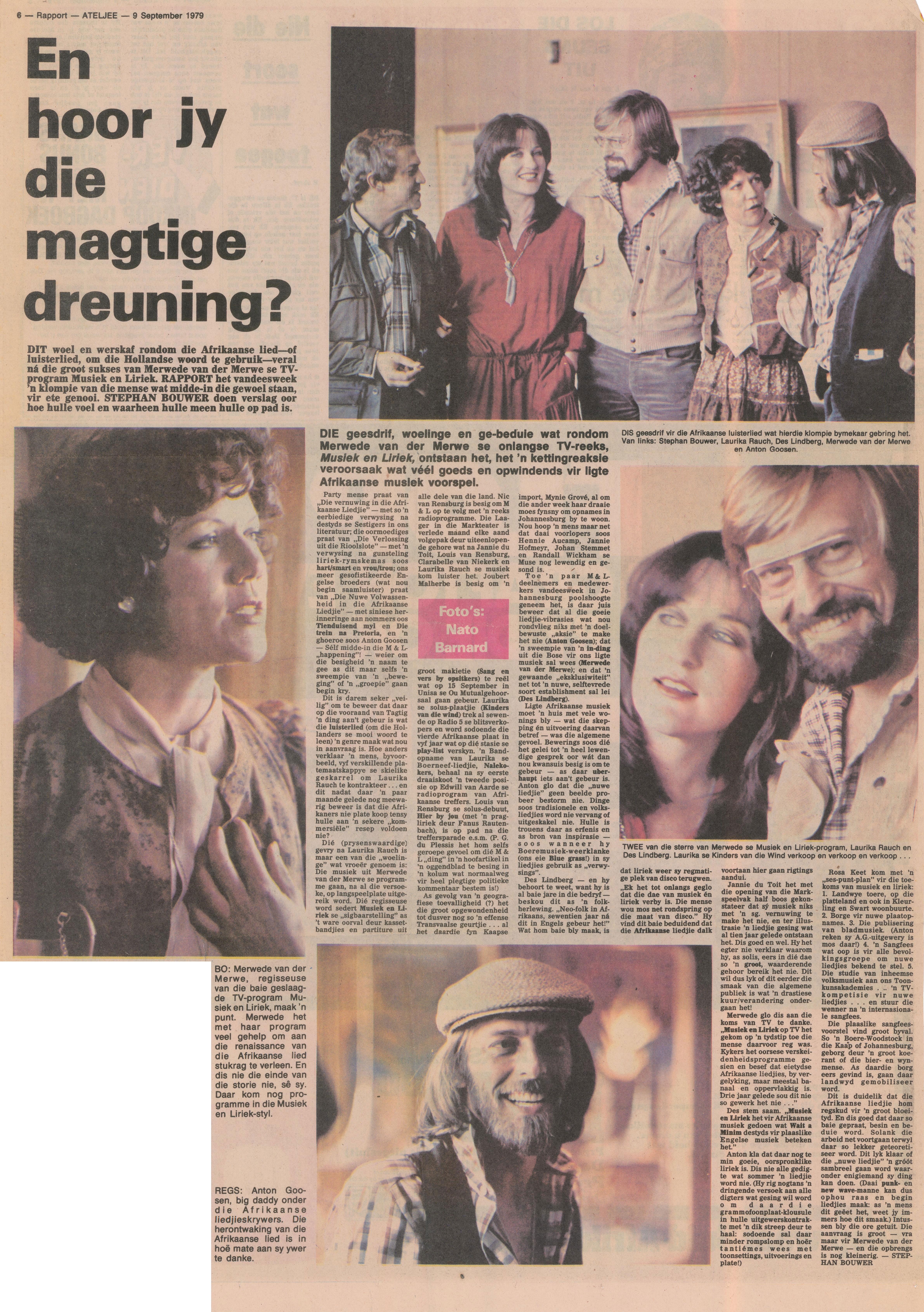 1979 Rapport - En hoor jy die magtige dreuning